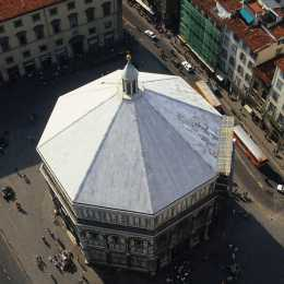 A view of the Baptistry from the Duomo