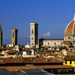 A view of the Duomo, Bargello and Badia Fiorentina