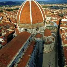 The duomo as seen from the bell's tower