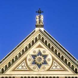 A detail of the church of Santa Croce